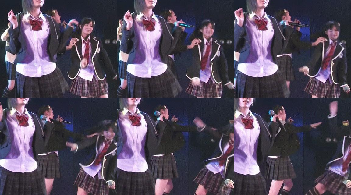 AKB48の茂木忍(16)が後輩佐藤妃星(13)をライブ中に突き飛ばす動画が話題に