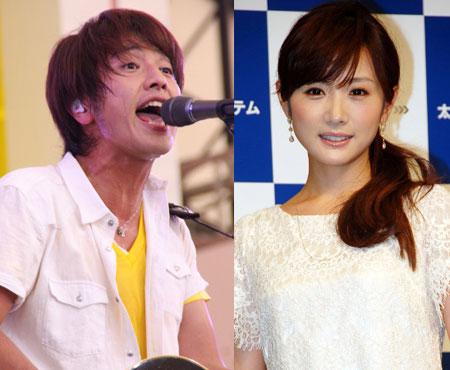 「ゆず」の北川悠仁さん(左)と高島彩さん (c)MANTAN WEB