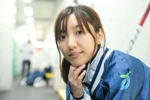 高校2年から日本代表に選抜。美貌だけでなく、実力も兼ね備えた足立選手。