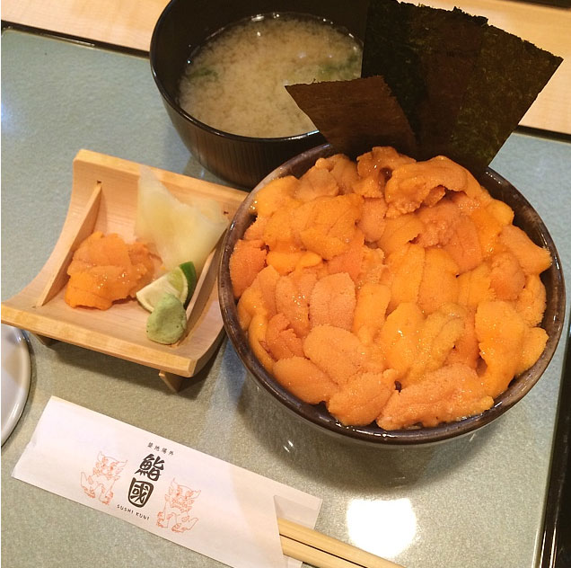 元祖こぼれウニ丼