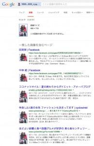 google画像検索をしてみた結果。一般人のブログから無断で画像を使用していることが分かる。