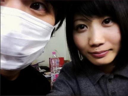 FukaseとSaoriのオフショット。