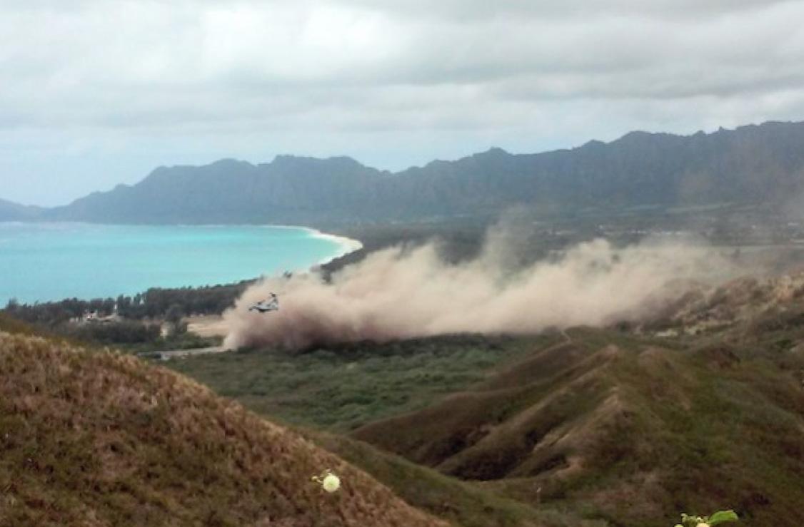 ハワイ・オアフ島 オスプレイ墜落現場