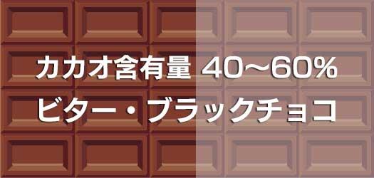 ビター・ブラックチョコ カカオマス含有量 40%~60%