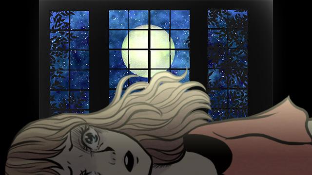 夜に窓やカーテンを開けたまま寝る
